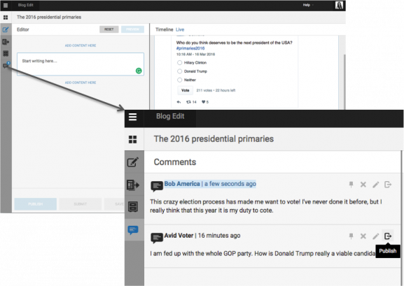 "The user comments feature is displayed here in the backend. All comments can be found in the new ""comments"" tab"