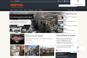 Quetzal's section page shows an overview of articles and community engagement.