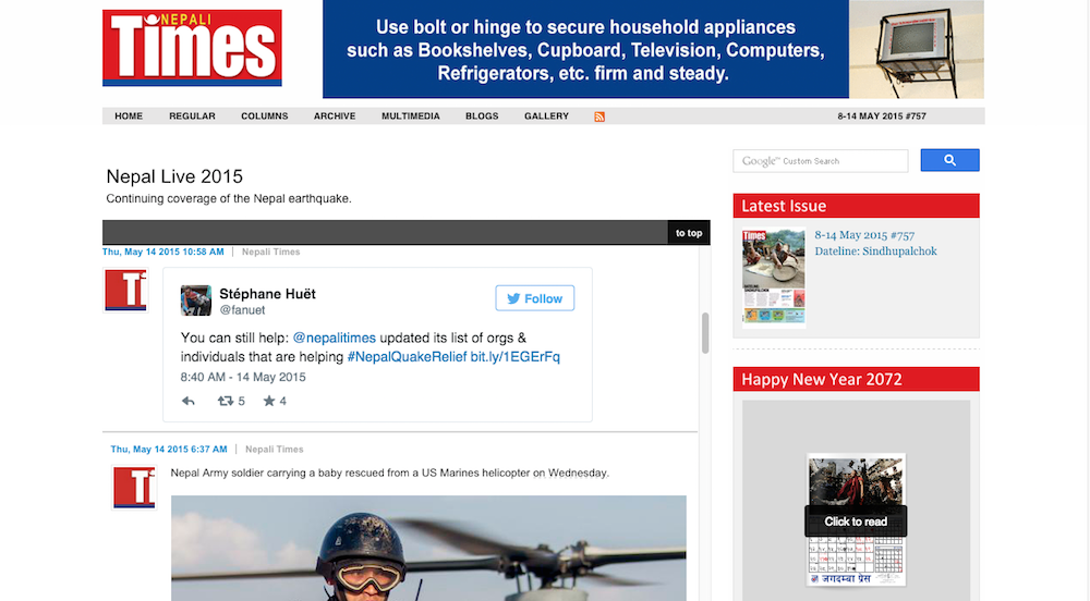 Bringing Live Blog to the Nepali Times