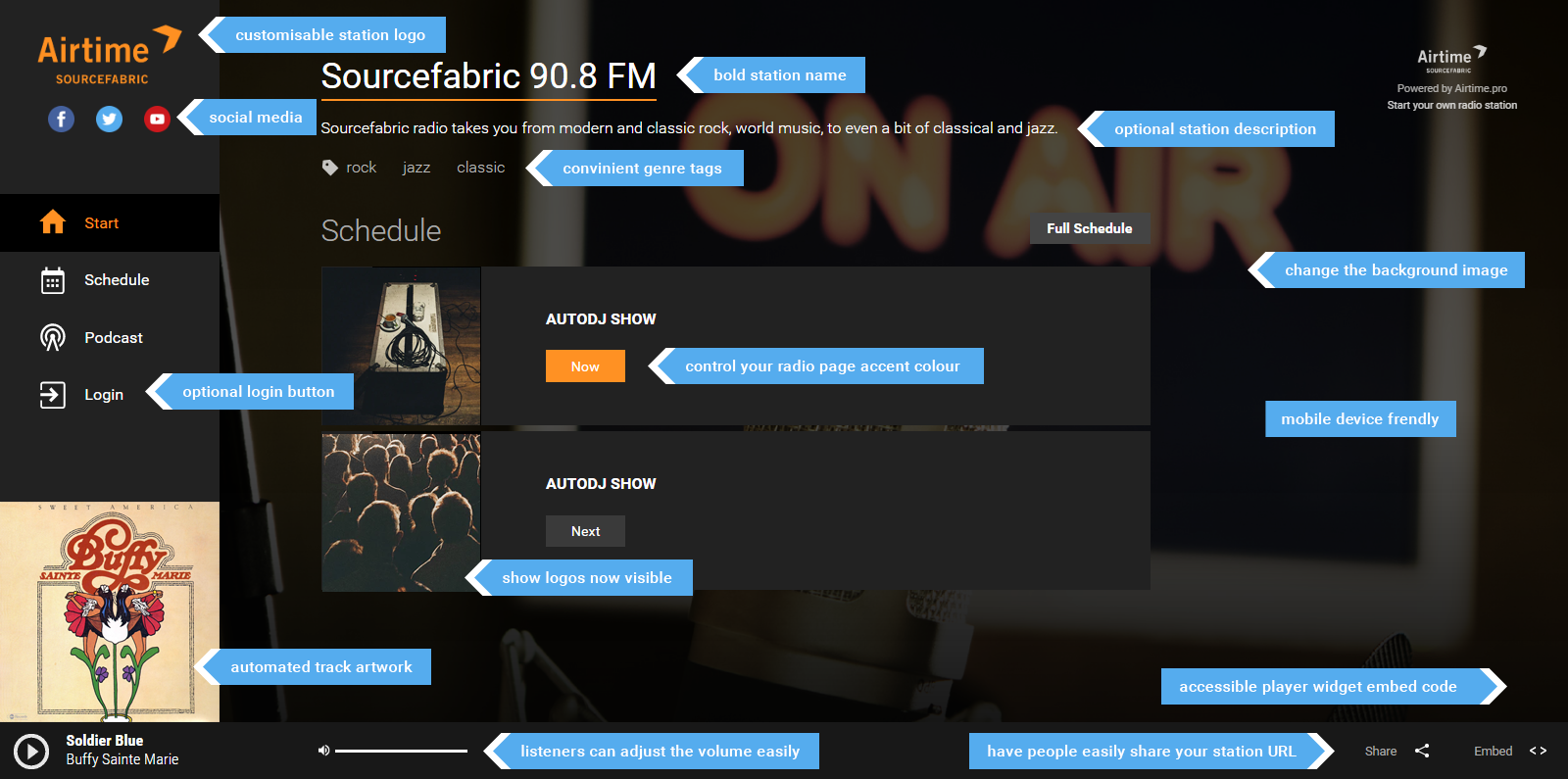 How To Customise Your Airtime Pro Radio Pa